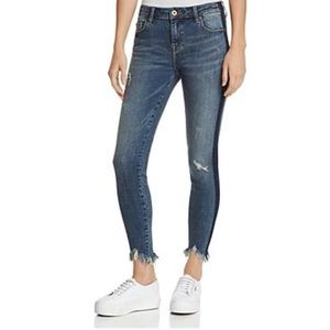 Pistola Audrey Side-Stripe Distressed Jeans